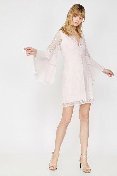 Koton Beyaz Elbise 9yak84668fk