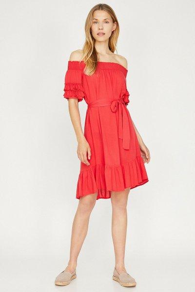 Koton Kırmızı Elbise 9yak88835pw