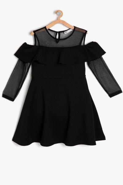 9ykg87874ak Koton Siyah Elbise