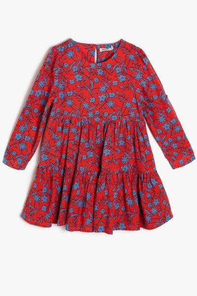 Koton Turuncu Desenli Elbise 9ykg87719ow