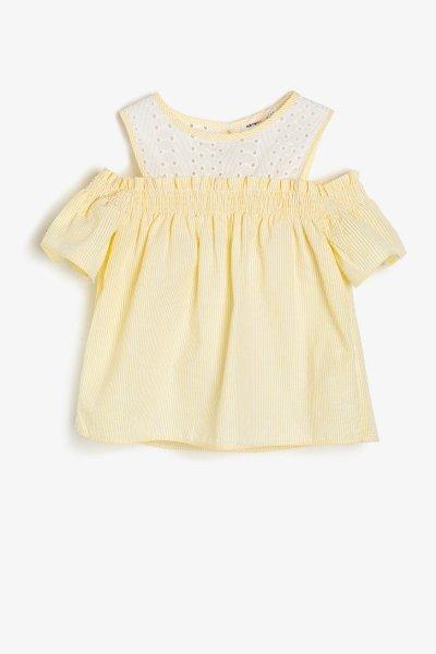 Koton Sarı Desenli Bluz 9ykg67705ow