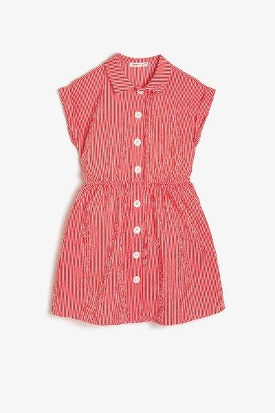 Koton Kırmızı Çizgili Elbise 9ykg87661aw