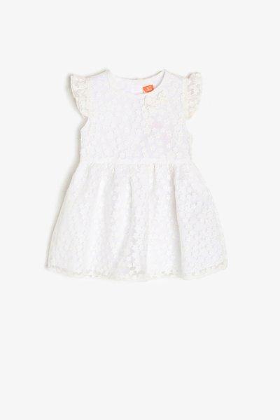 9ymg89312ow Koton Beyaz Elbise