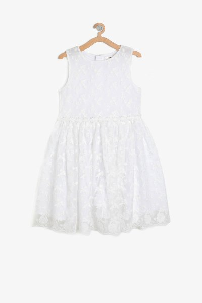9ykg87639ow Koton Beyaz Elbise