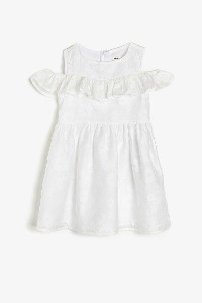 Koton Beyaz Elbise 9ykg87227ow