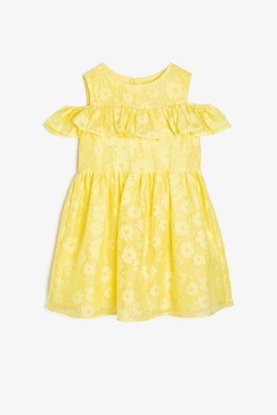 9ykg87227ow Koton Sarı Elbise