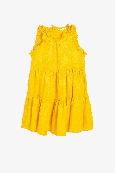 9ykg83330ew Koton Hardal Desenli Elbise