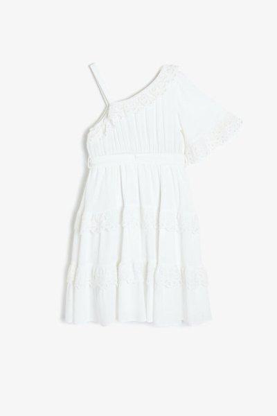 9ykg83317ew Koton Beyaz Elbise