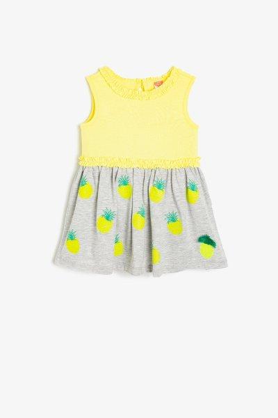 9ymg89046zk Koton Sarı Elbise