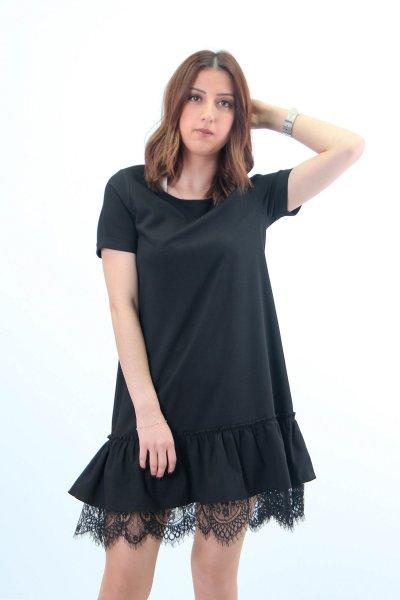 2254 Ms Perry Eteği Dantelli Elbise