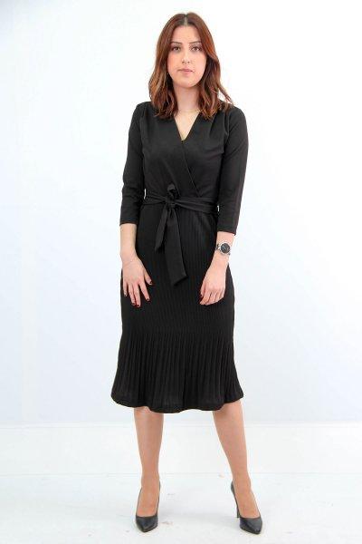 Eteği Piliseli Elbise 2262