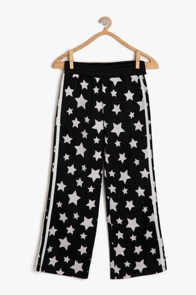 Koton Siyah Desenli Pantolon 9ykg47737ak